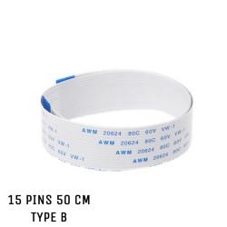 Nappe ZIF 15 pins 50 cm