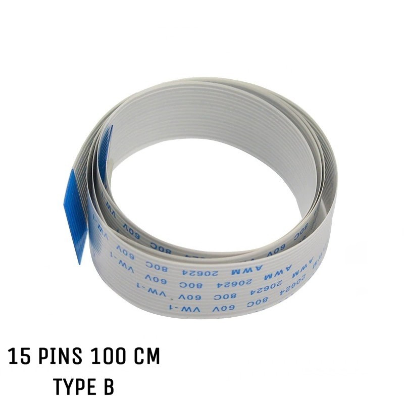 Nappe ZIF 15 pins 1 mètre