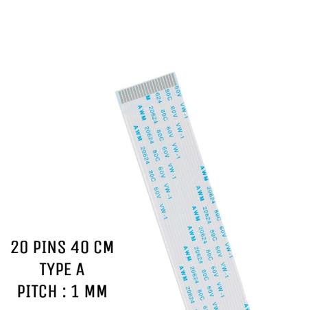 Nappe ZIF 20 pins 40 cm Type A
