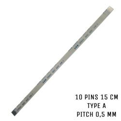 Nappe ZIF AWM 20624 80C VW-1  10 pins 15 cm Type A