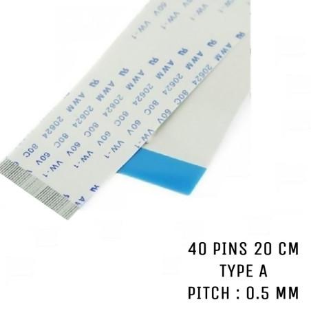 Nappe ZIF 40 pins 20 cm Type A