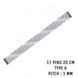 Nappe ZIF 17 pins 20 cm Type A