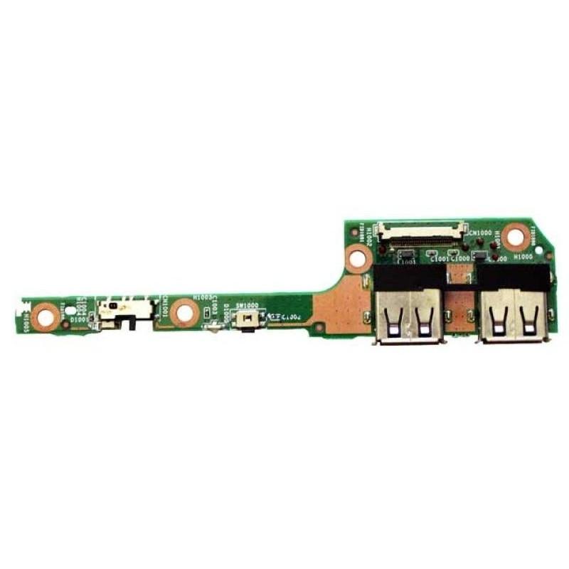 Carte fille bouton Power et Ports USB HP DM3 série 1000